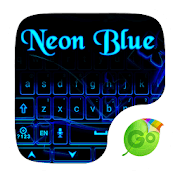 Neon Blue GO Keyboard Theme