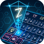 Keyboard Hologram Neon Theme