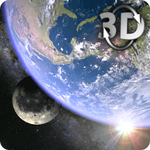 Earth & Moon Gyro 3D Parallax Live Wallpaper