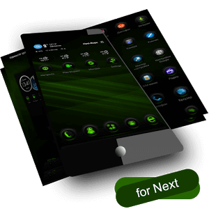RubberGreen Next Launcher Theme