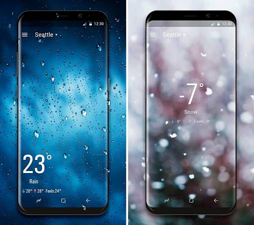 Скриншоты из Real Time Weather Live Wallpaper