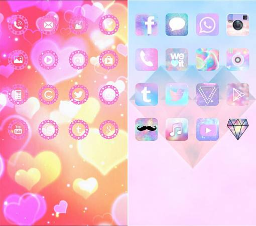 Скриншоты из CocoPPa icon wallpapers