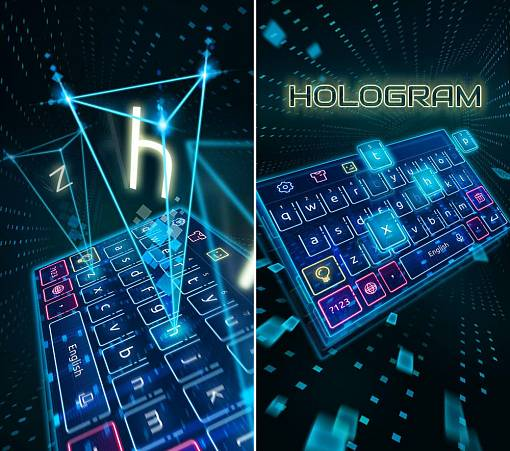 Скриншоты из Keyboard Hologram Neon Theme