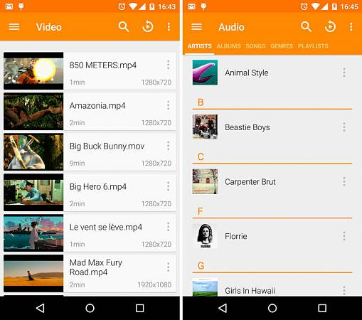 Скриншоты из VLC for Android