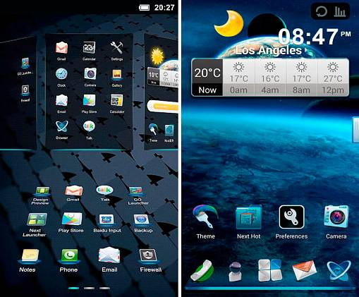 Скриншоты из Next Launcher 3D UI 2.0 Theme
