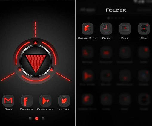 Скриншоты из Dark Energy GO Launcher Theme
