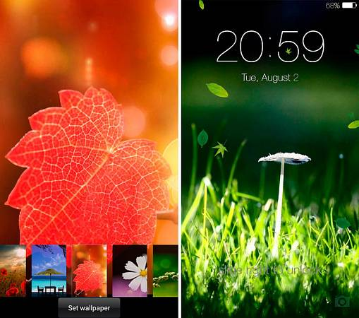 Скриншоты из Spring live wallpaper lock
