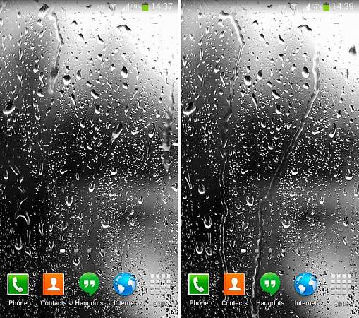 Скриншоты из Raindrops Live Wallpaper HD 8