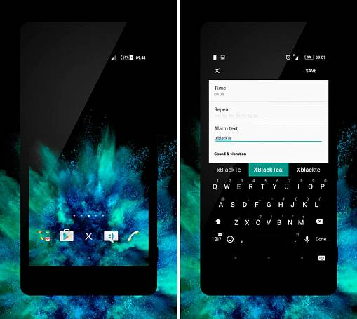 Скриншоты из xBlack - Teal Theme for Xperia